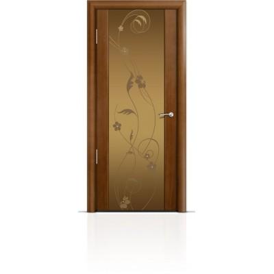Межкомнатная Дверь Мильяна Омега-2 Анегри триплекс бронзовый Фиалка