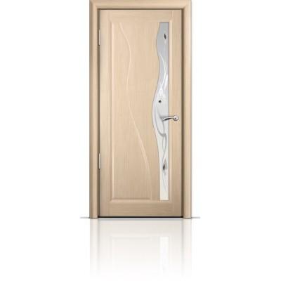 Межкомнатная Дверь Мильяна Ирен Беленый дуб стекло белое Ирен
