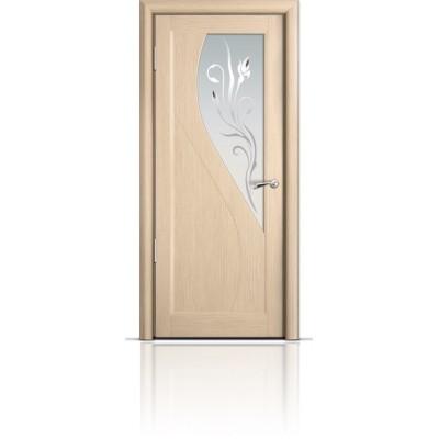 Межкомнатная Дверь Мильяна Яна Беленый дуб стекло белое Яна