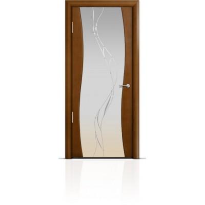 Межкомнатная Дверь Мильяна Омега Анегри триплекс белый Иллюзия