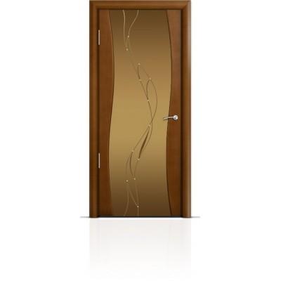 Межкомнатная Дверь Мильяна Омега Анегри триплекс бронзовый Иллюзия