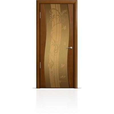 Межкомнатная Дверь Мильяна Омега Анегри триплекс бронзовый Мотив