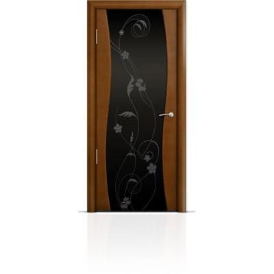 Межкомнатная Дверь Мильяна Омега Анегри триплекс черный Фиалка
