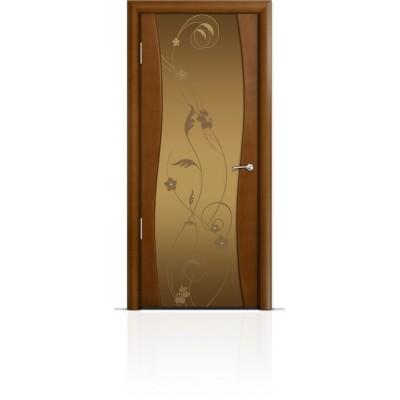 Межкомнатная Дверь Мильяна Омега Анегри триплекс бронзовый Фиалка