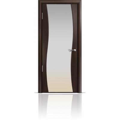Межкомнатная Дверь Мильяна Омега Венге триплекс белый
