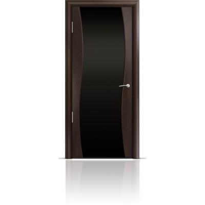Межкомнатная Дверь Мильяна Омега Венге триплекс черный