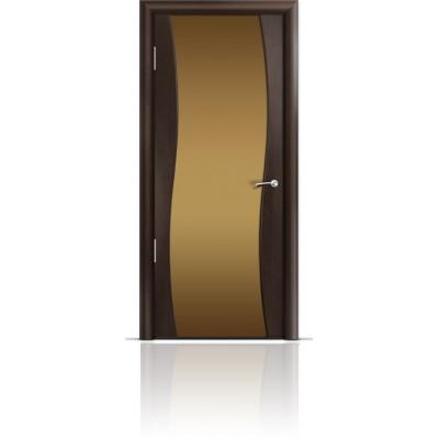 Межкомнатная Дверь Мильяна Омега Венге триплекс бронзовый