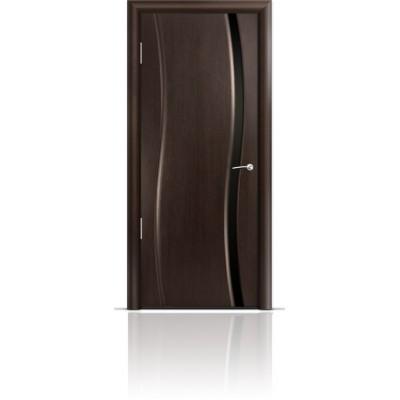 Межкомнатная Дверь Мильяна Омега Венге триплекс узкий черный