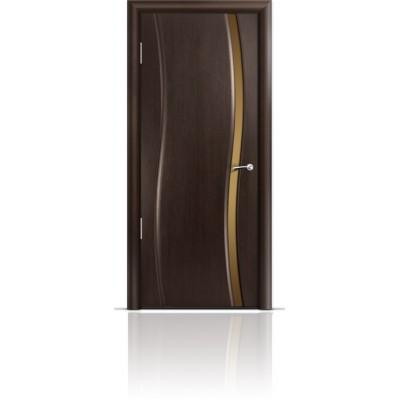 Межкомнатная Дверь Мильяна Омега Венге триплекс узкий бронзовый