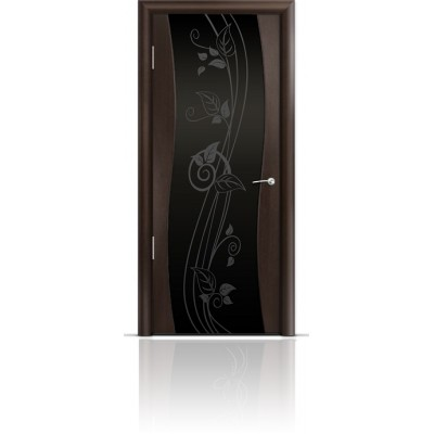 Межкомнатная Дверь Мильяна Омега Венге триплекс черный Нежность