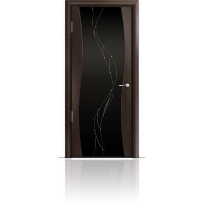 Межкомнатная Дверь Мильяна Омега Венге триплекс черный Иллюзия