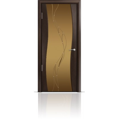 Межкомнатная Дверь Мильяна Омега Венге триплекс бронзовый Иллюзия