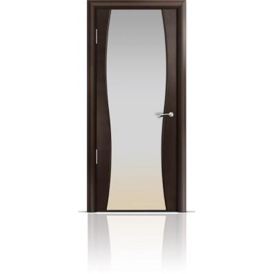 Межкомнатная Дверь Мильяна Омега-1 Венге триплекс белый