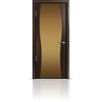 Межкомнатная Дверь Мильяна Омега-1 Венге триплекс бронзовый