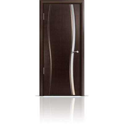 Межкомнатная Дверь Мильяна Омега-1 Венге триплекс узкий белый