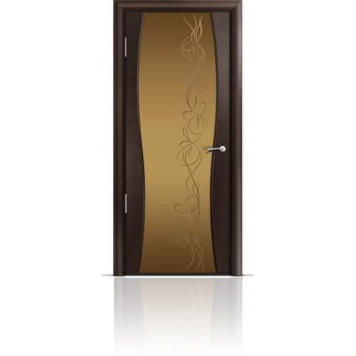 Межкомнатная Дверь Мильяна Омега-1 Венге триплекс бронзовый Фантазия