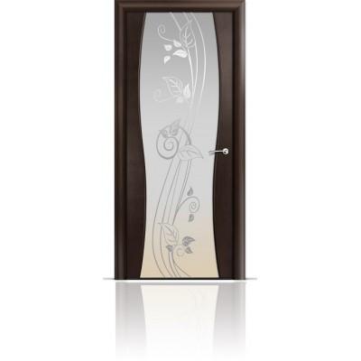 Межкомнатная Дверь Мильяна Омега-1 Венге триплекс белый Нежность