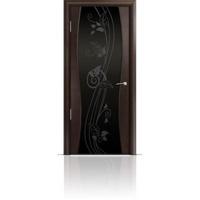 Межкомнатная Дверь Мильяна Омега-1 Венге триплекс черный Нежность