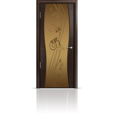 Межкомнатная Дверь Мильяна Омега-1 Венге триплекс бронзовый Нежность