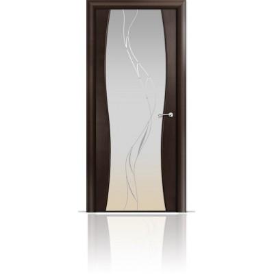 Межкомнатная Дверь Мильяна Омега-1 Венге триплекс белый Иллюзия