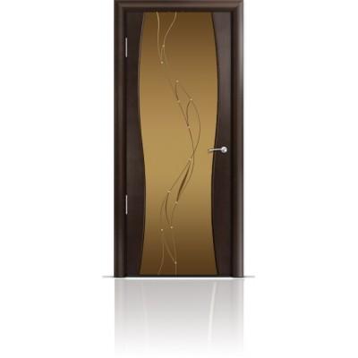 Межкомнатная Дверь Мильяна Омега-1 Венге триплекс бронзовый Иллюзия