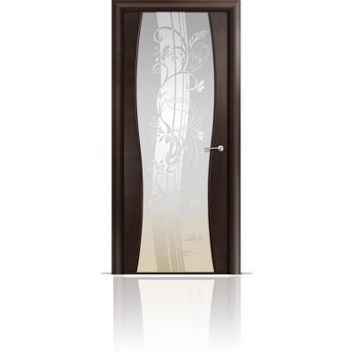 Межкомнатная Дверь Мильяна Омега-1 Венге триплекс белый Мотив