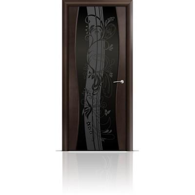 Межкомнатная Дверь Мильяна Омега-1 Венге триплекс черный Мотив