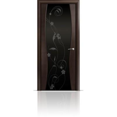 Межкомнатная Дверь Мильяна Омега-1 Венге триплекс черный Фиалка