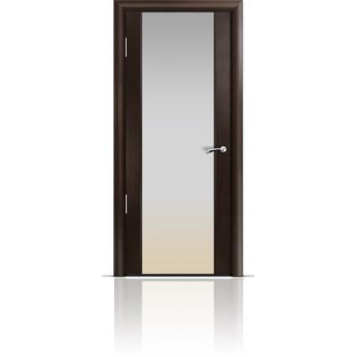 Межкомнатная Дверь Мильяна Омега-2 Венге триплекс белый