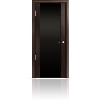 Межкомнатная Дверь Мильяна Омега-2 Венге триплекс черный