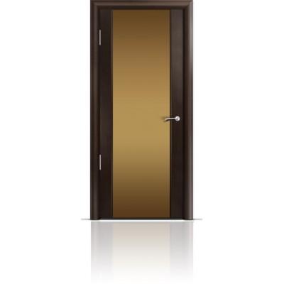 Межкомнатная Дверь Мильяна Омега-2 Венге триплекс бронзовый