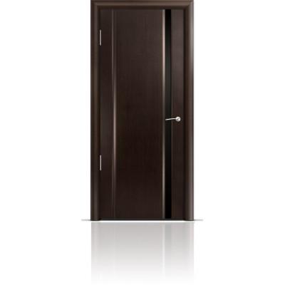 Межкомнатная Дверь Мильяна Омега-2 Венге триплекс узкий черный
