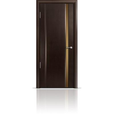 Межкомнатная Дверь Мильяна Омега-2 Венге триплекс узкий бронзовый