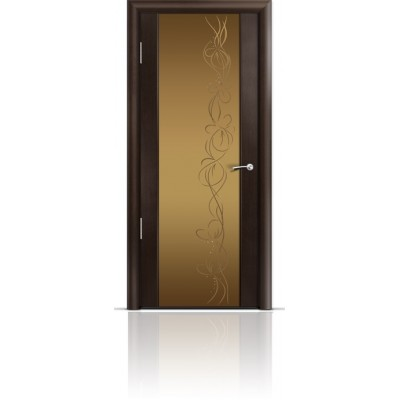 Межкомнатная Дверь Мильяна Омега-2 Венге триплекс бронзовый Фантазия