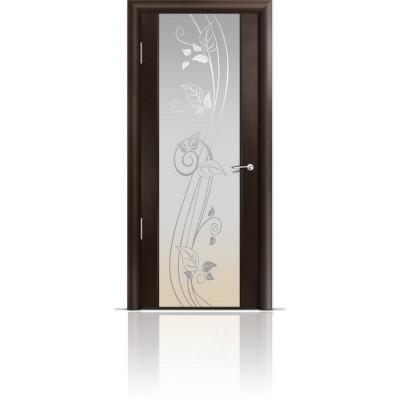 Межкомнатная Дверь Мильяна Омега-2 Венге триплекс белый Нежность