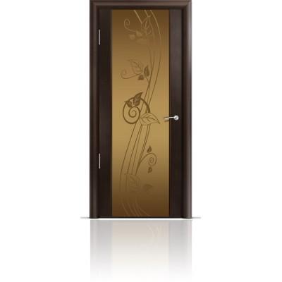 Межкомнатная Дверь Мильяна Омега-2 Венге триплекс бронзовый Нежность