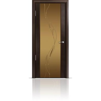 Межкомнатная Дверь Мильяна Омега-2 Венге триплекс бронзовый Иллюзия