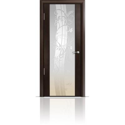 Межкомнатная Дверь Мильяна Омега-2 Венге триплекс белый Мотив