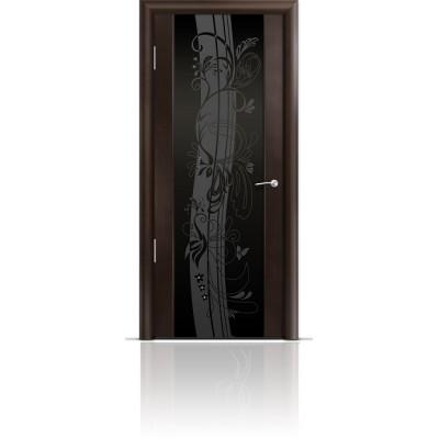 Межкомнатная Дверь Мильяна Омега-2 Венге триплекс черный Мотив