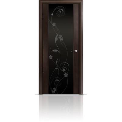 Межкомнатная Дверь Мильяна Омега-2 Венге триплекс черный Фиалка
