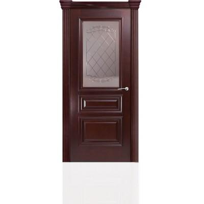Межкомнатная Дверь Мильяна Бристоль Сити Красное дерево стекло Арианда бронзовое