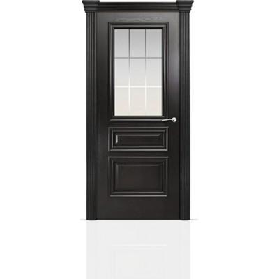 Межкомнатная Дверь Мильяна Бристоль Сити Ясень винтаж стекло Премиум белое