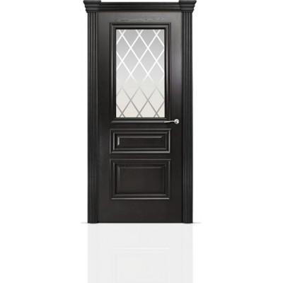 Межкомнатная Дверь Мильяна Бристоль Сити Ясень винтаж стекло Готика белое