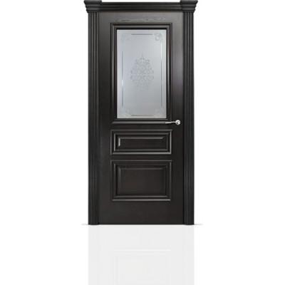 Межкомнатная Дверь Мильяна Бристоль Сити Ясень винтаж стекло Кларис белое