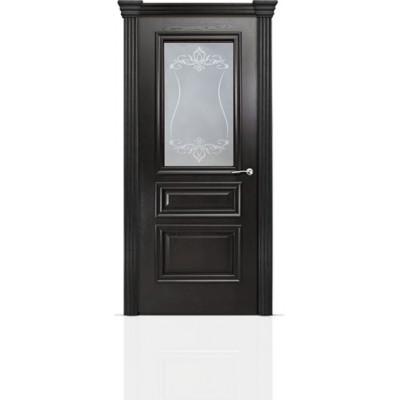 Межкомнатная Дверь Мильяна Бристоль Сити Ясень винтаж стекло Лициция белое