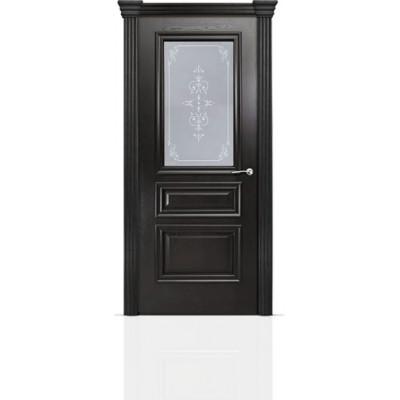 Межкомнатная Дверь Мильяна Бристоль Сити Ясень винтаж стекло Эстель белое