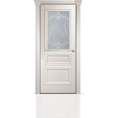 Межкомнатная Дверь Мильяна Бристоль Сити Ясень жемчуг стекло Лициция белое