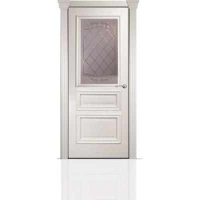 Межкомнатная Дверь Мильяна Бристоль Сити Ясень жемчуг стекло Арианда бронзовое