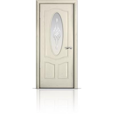 Межкомнатная Дверь Мильяна Барселона Ясень жемчуг стекло Гранд