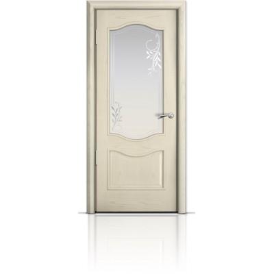 Межкомнатная Дверь Мильяна Марсель Ясень жемчуг стекло Гранд